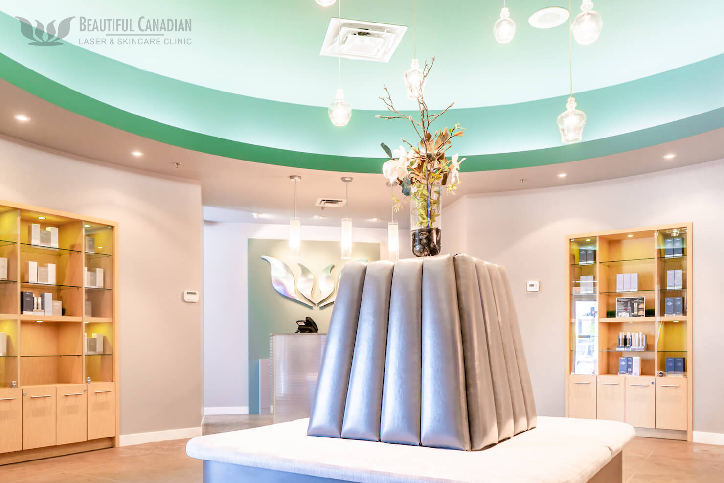 Our medical cosmetic beauty centre reception room